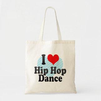 I love Hip Hop Dance Tote Bag