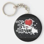 I Love Hip Hop - Keychain Basic Round Button Keychain