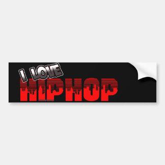 I Love HIP HOP Music Bumper Sticker