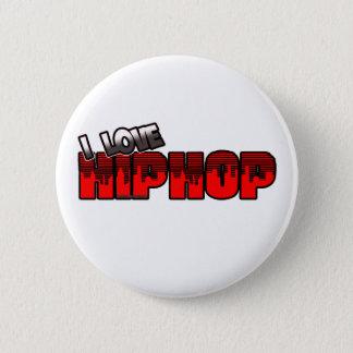 I Love HIP HOP Music Button