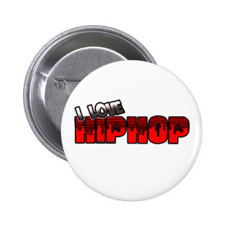 I Love HIP HOP Music Button