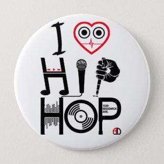 I Love Hip-Hop - Music Design, Badge Pinback Button