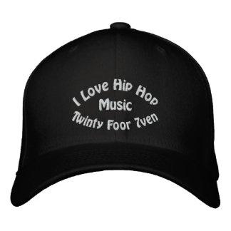 I Love Hip Hop Music Embroidered Baseball Cap