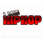 I Love HIP HOP Music Post Card
