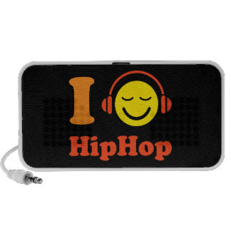 I love Hip Hop music smiley Doodle speakers