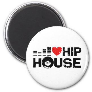 I Love Hip House 2 Inch Round Magnet