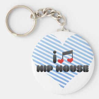 I Love Hip House Keychains