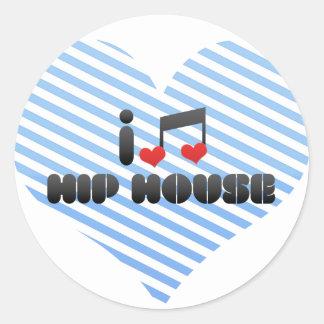 I Love Hip House Round Sticker