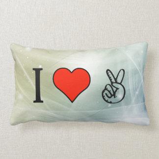 I Love Hippie Pillow