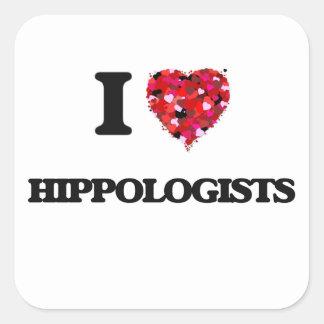 I love Hippologists Square Sticker