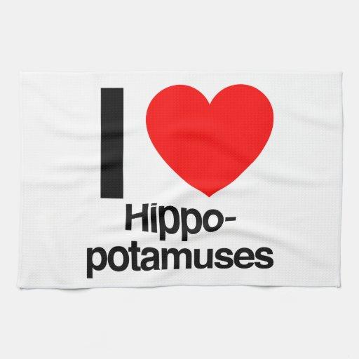 i love hippopotamuses towel