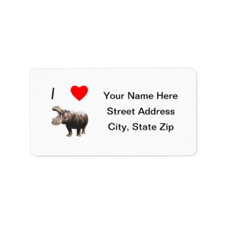 I Love Hippos (4) Label