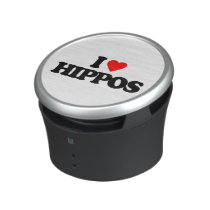 I LOVE HIPPOS BLUETOOTH SPEAKER