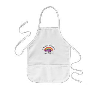 I love hippos deal with it kids' apron