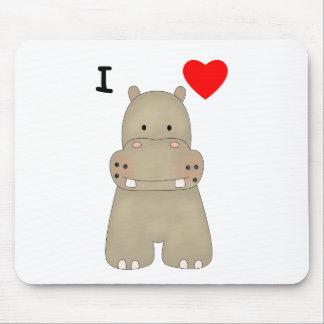 I Love Hippos Mouse Pad