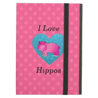 I love hippos pink polka dots case for iPad air