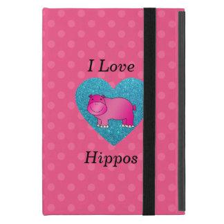 I love hippos pink polka dots covers for iPad mini