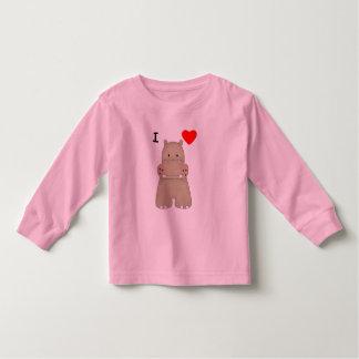 I Love Hippos Toddler T-shirt