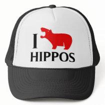 I Love Hippos Trucker Hat