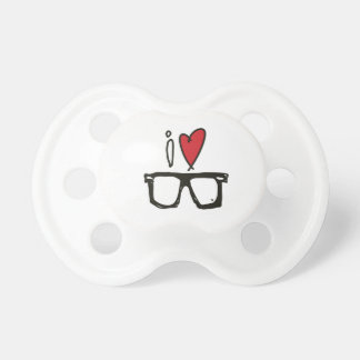 i love hipsters. hipster baby pacifier