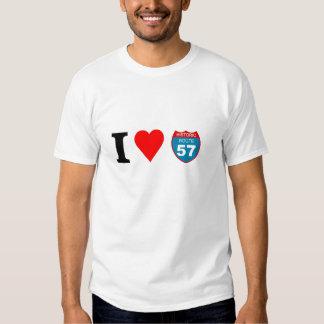 I love Historic Route 57 Tee Shirt