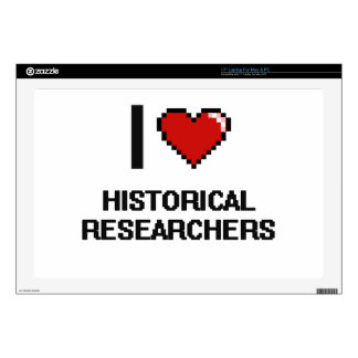 """I love Historical Researchers Decal For 17"""" Laptop"""