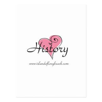 I Love History Gear Postcard