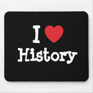 I love History heart custom personalized Mouse Mat
