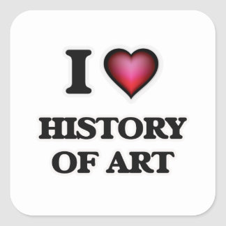 I Love History Of Art Square Sticker
