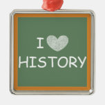 I Love History Ornament