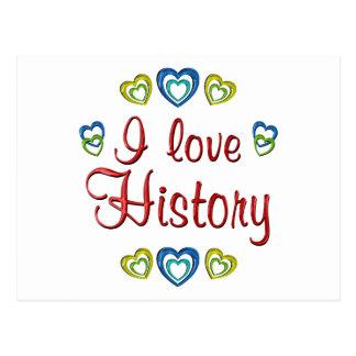 I Love History Postcard