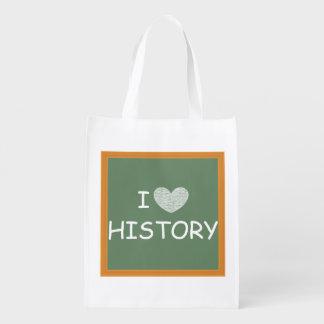 I Love History Reusable Grocery Bag