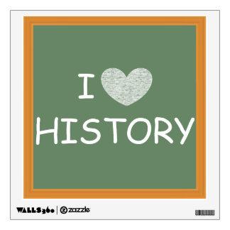 I Love History Wall Stickers
