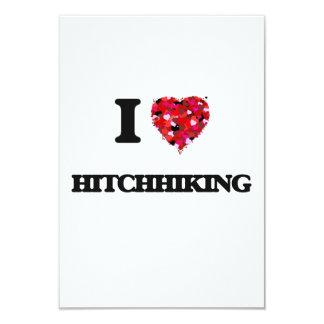 I Love Hitchhiking 3.5x5 Paper Invitation Card