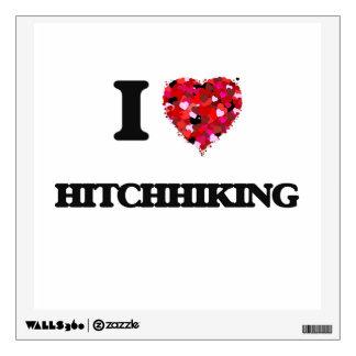 I Love Hitchhiking Wall Sticker