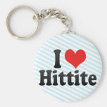 I Love Hittite Key Chain