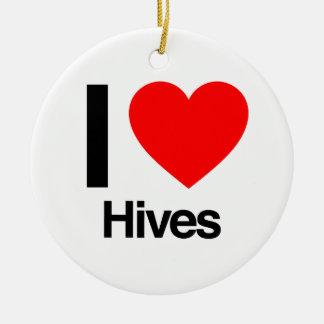 i love hives christmas ornaments