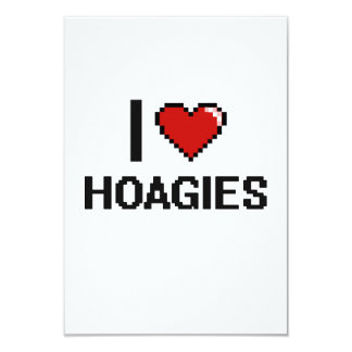 I Love Hoagies 3.5x5 Paper Invitation Card