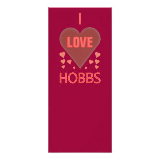 I Love Hobbs NM Personalized Invitations