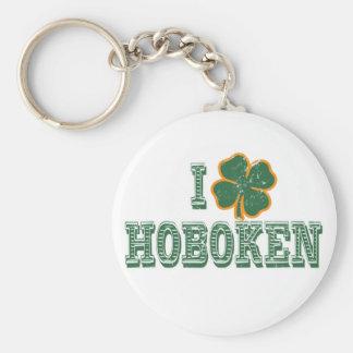 I love Hoboken - St. Patrick's Day Keychain