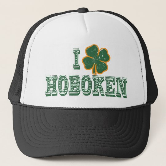 I love Hoboken - St. Patrick's Day Trucker Hat