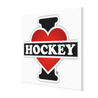 I Love Hockey Canvas Print