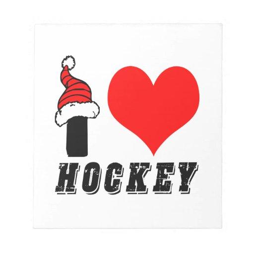 I Love Hockey Design Memo Pad