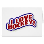 I Love Hockey Greeting Cards