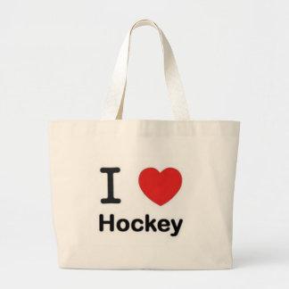 I love Hockey Large Tote Bag