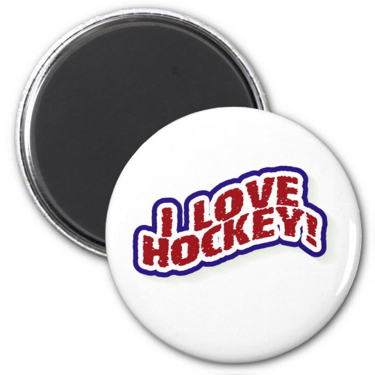 I Love Hockey Magnet