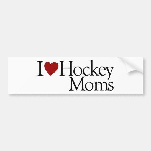 I Love Hockey Moms (Sarah Palin) Bumper Stickers