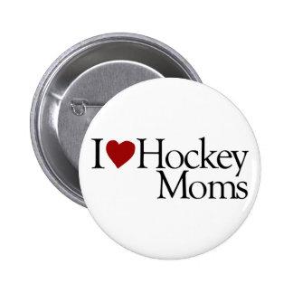 I Love Hockey Moms (Sarah Palin) Pinback Button