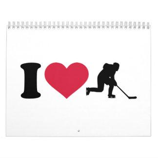 I love hockey player calendar