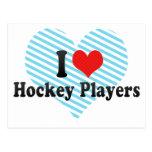 I Love Hockey Players Postcard